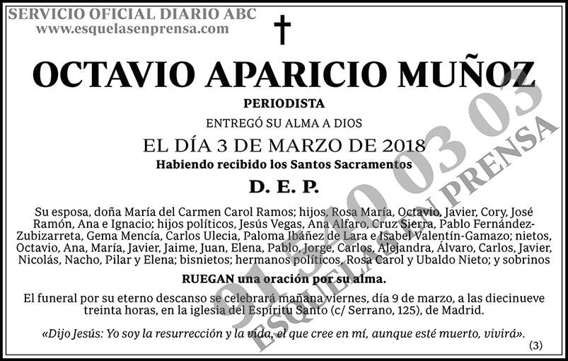 Octavio Aparicio Muñoz
